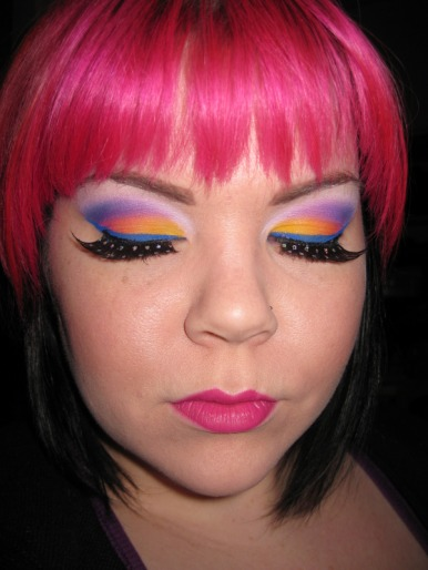 Lisa frank ed hardy collaboration inspired makeup - Ed hardy lisa frank ...