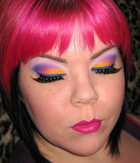 Lisa Frank/ Ed Hardy Collaboration Inspired Makeup