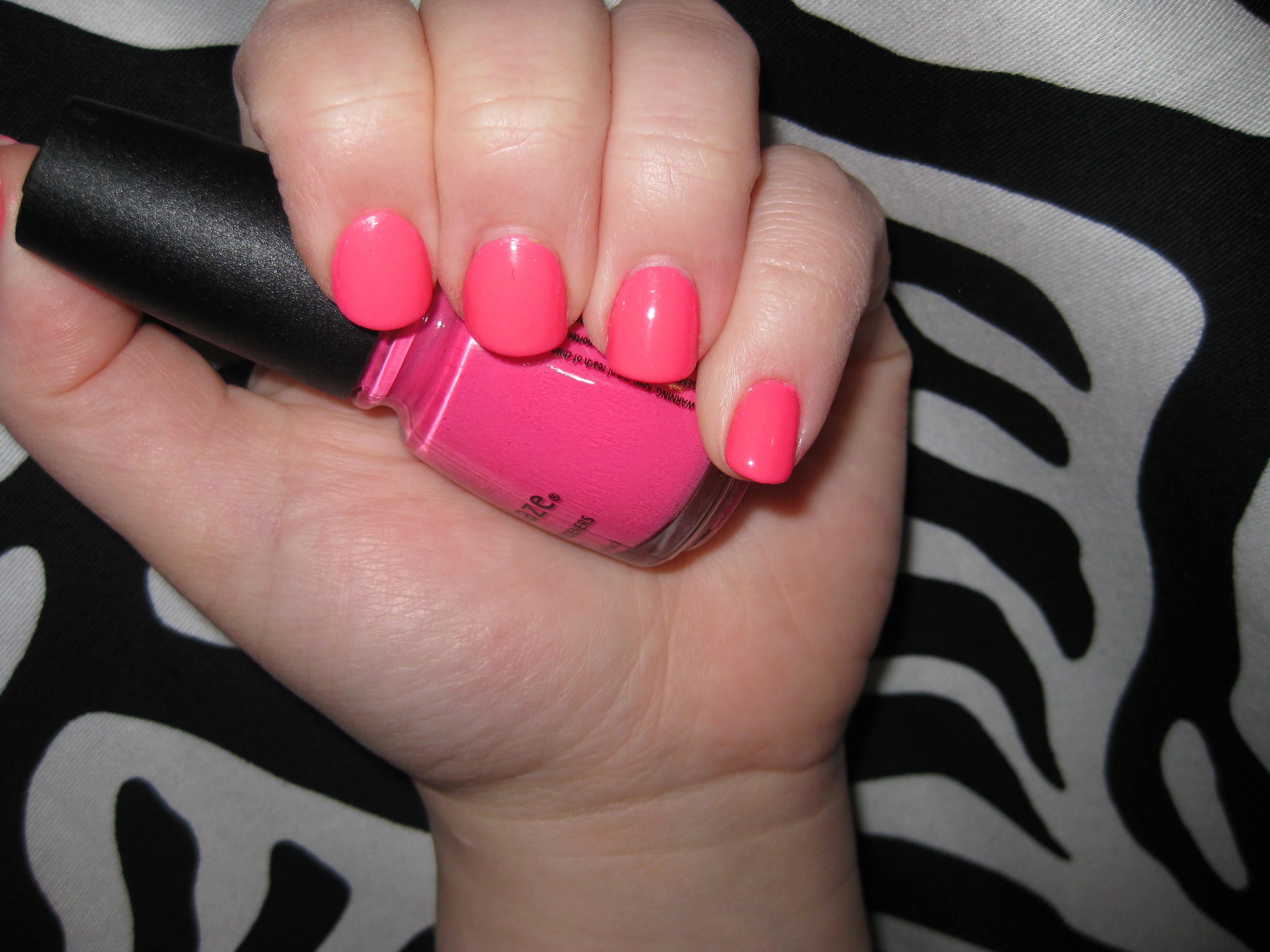 my Barbie-pink Nail Polish
